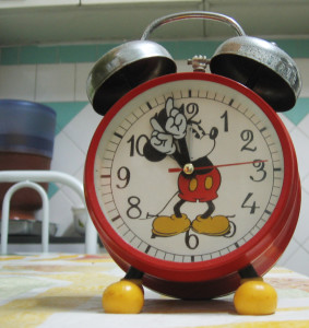 disneyland mickey mouse clock