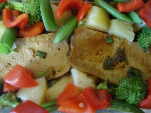 tofu and veggies