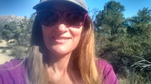 Sindi outside hiking on a beautiful day in Prescott, AZ.