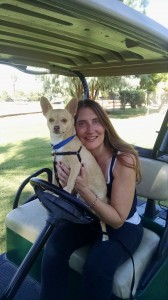 Rock's first golf cart ride!