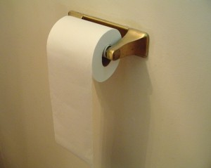 toilet paper on roll